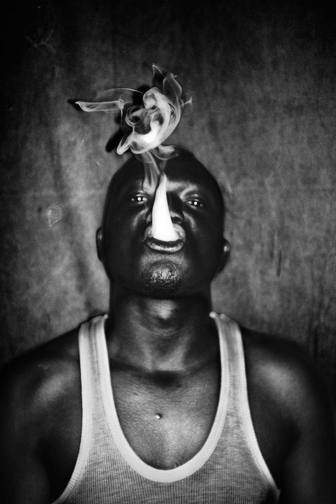 © Léonard Pongo. 9A, A Local Rapper Poses After A Concert. From The Series The Uncanny, 2011 – 2013. (Ultrachrome Pigment Print On FibaPrint Warmtone Gloss Archival Paper, 300 G/m 2 )