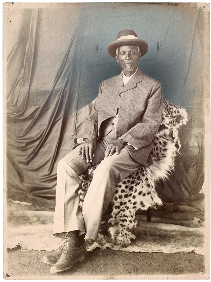 C/O Berlin | Distance And Desire: Encounters With The African Archive, Unidentified Photographer, Studio Portrait Of King Khama III. South Africa, Earliy Twentieth Century.