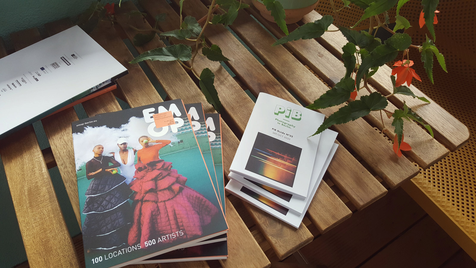On the left: EMOP Berlin 2020 catalogue © Kulturprojekte Berlin | On the right: PiB Guide Nº32 SEP/OCT 2020 © PiB Photography in Berlin