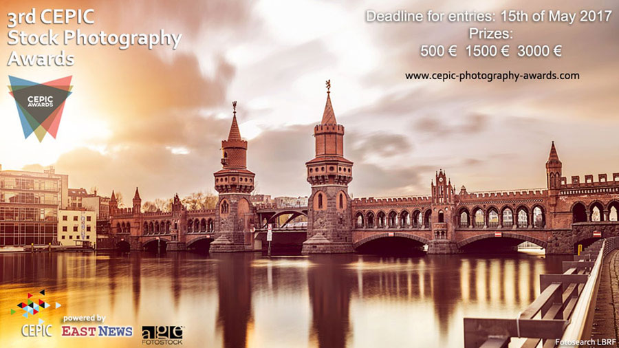 3rd CEPIC Stock Photography Awards | Berlin 2017 | Call For Entries (Stock Photo - Oberbaumbrücke Berlin, Photographer: CSP_teshimine, Collection: Fotosearch LBR)