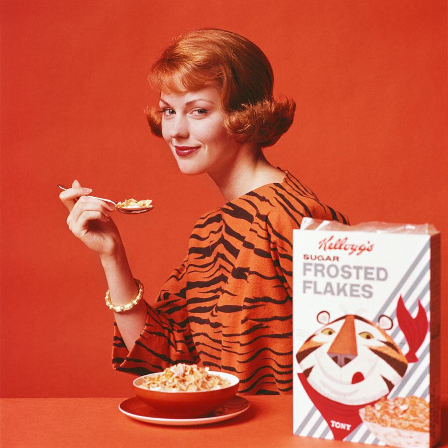 Let The Lady Be A Tiger, Kellogg's Tiger Flakes, 1961 © Bert Stern. Courtesy Galerie 36 And Bert Stern Trust