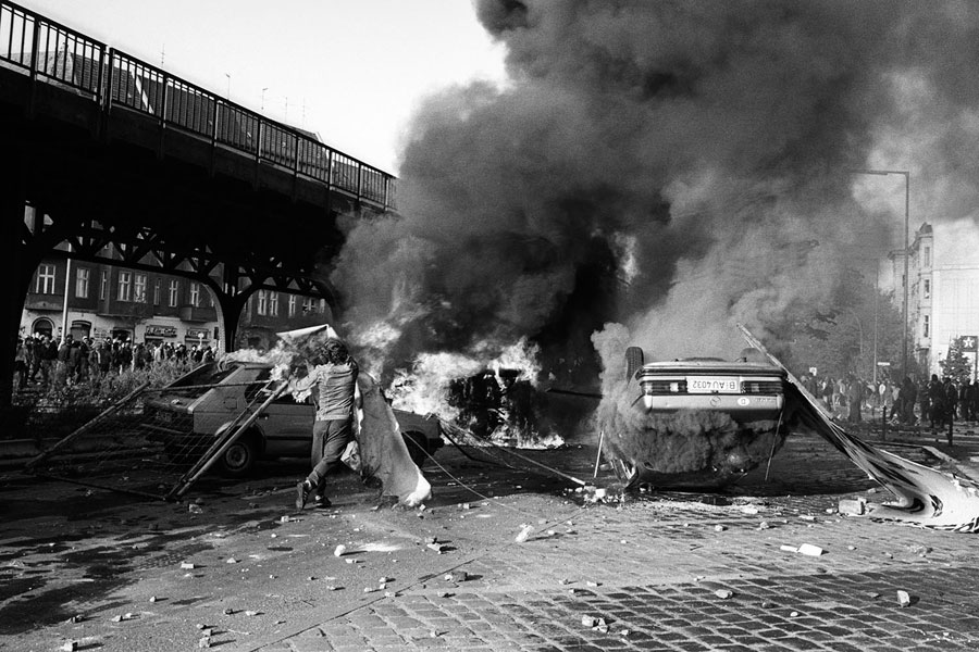 Riot In Berlin Kreuzberg 1st May, West-Berlin In The 80s © Ann-Christine Jansson