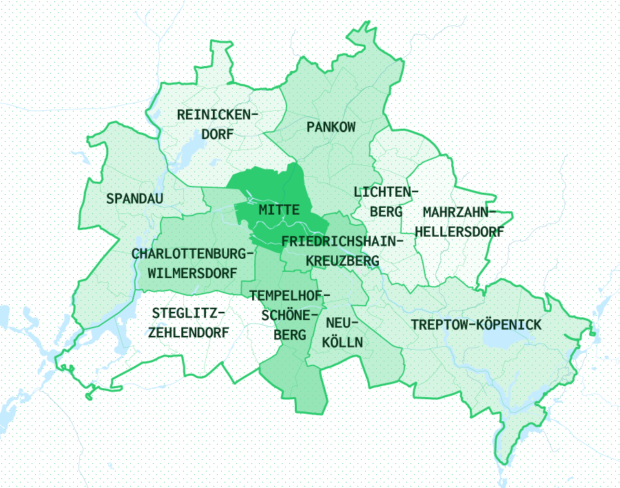 Berlin's 12 Boroughs / Bezirke