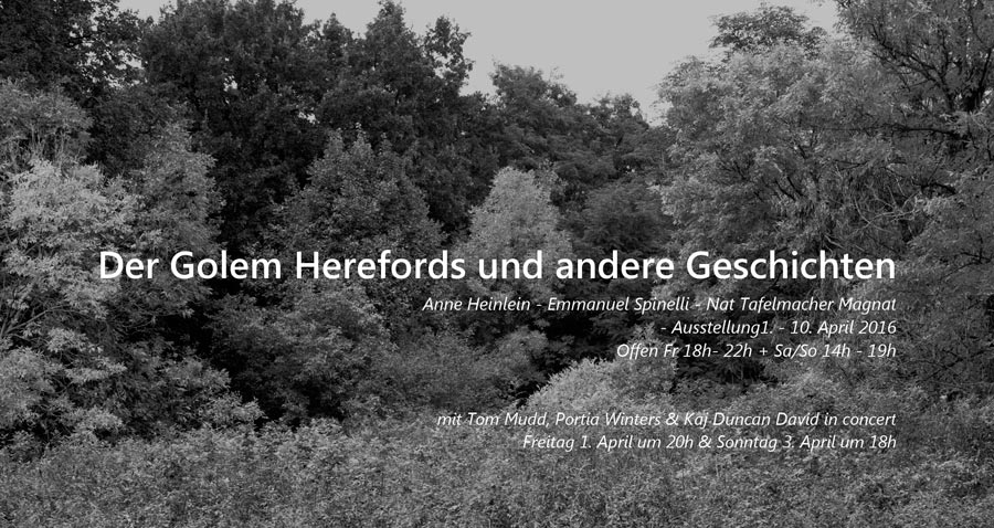 """Poster For »The Golem Of Hereford And Other Stories« 