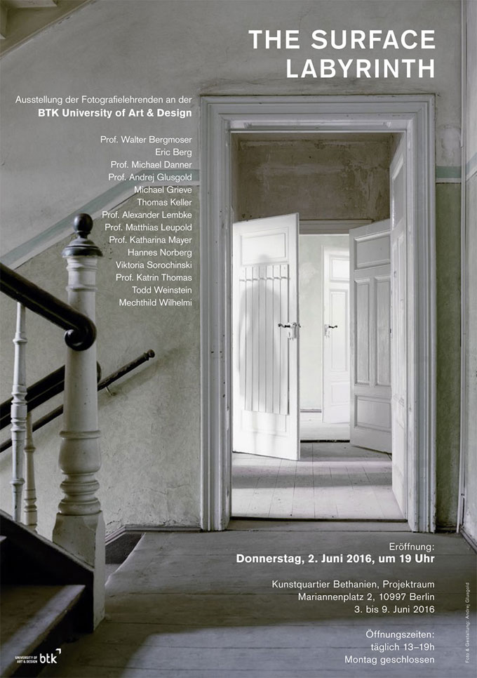 Kunstquartier Bethanien | »The Surface Labyrinth«, Group Exhibition With Works By Professors And Teachers Of The BTK University Of Art & Design