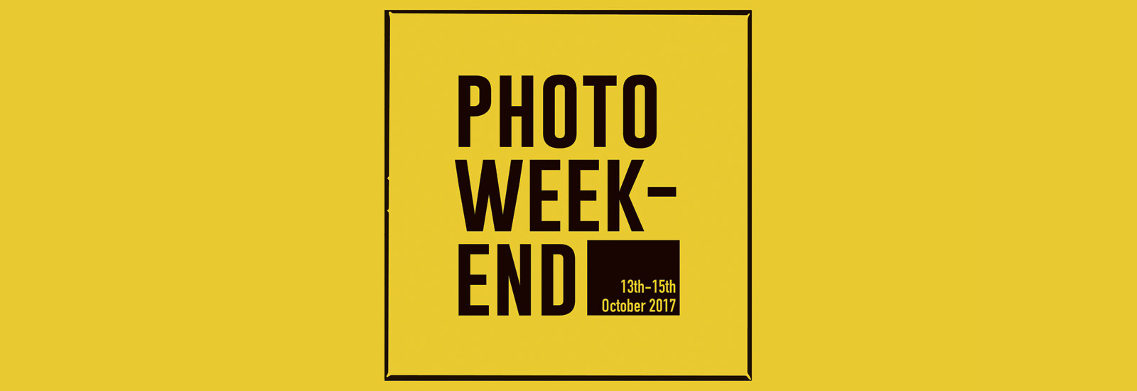 AnalogueNOW! Photo Weekend 2017 | 13. — 15. Okt