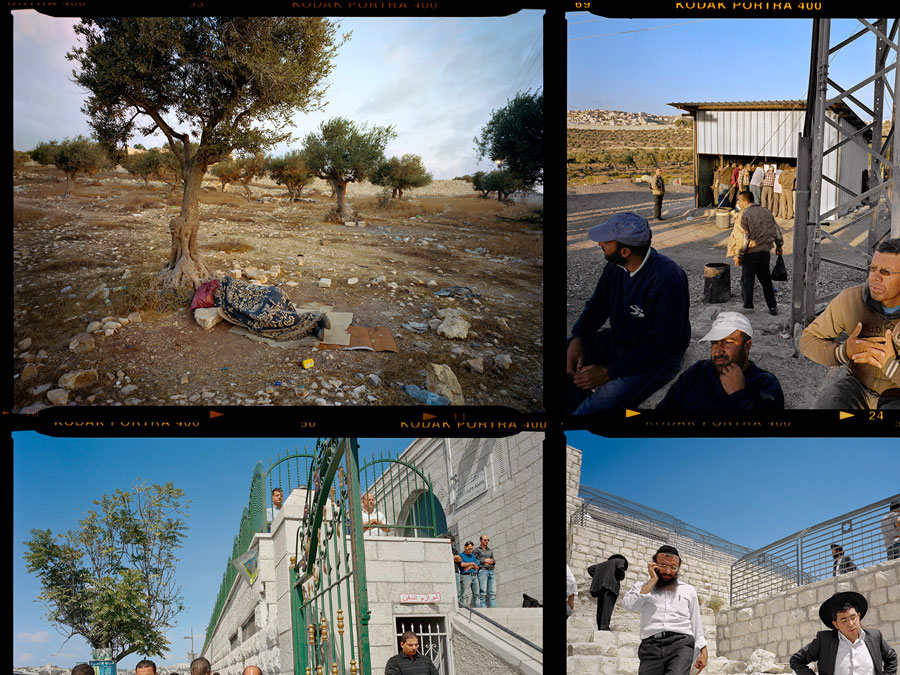 Gilles Peress, Contact Sheet, Palestinian Jerusalem, 2013, Installation View Detail © Gilles Peress