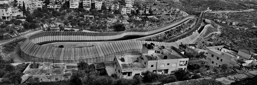 Josef Koudelka, Route 60, Beit Jala, Bethlehem Area. Specially Designed Concrete Slabs Were Incorporated Into The Wall Along Major Transport Routes Such As Road 60 To Prevent Potential Attacks. (Route 60-see Lexicon) © Josef Koudelka / Magnum Photos