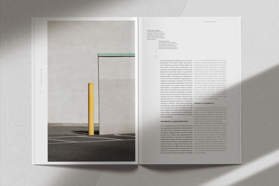 MNML Magazine #1, Cover & Spreads © Galerie Minimal & KOCMOC – Publishing Space