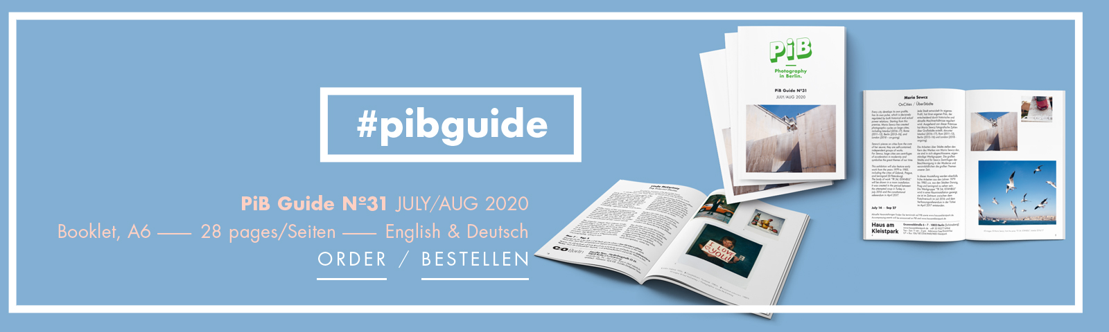 "PiB Guide Nº31 JULY/AUG 2020 © PiB – Photography In Berlin. #pibguide. Booklet, A6 Format · 28 Pages · English & German · Worldwide Shipping +++ COVER PHOTO: From The Series ""TR 34; ISTANBUL"", Istanbul 2016/17 © Maria Sewcz. Solo Exhibition »OnCities / ÜberStädte« At Haus Am Kleistpark In Berlin-Schöneberg. +++ Editor / V.i.S.d.P.: Julia Schiller +++ Art Direction By Julia Schiller · Ele Studio Berlin · Www.ele-studio.de +++ Printed In Berlin-Köpenick By Altmann-druck GmbH · Www.altmann-druck.de"
