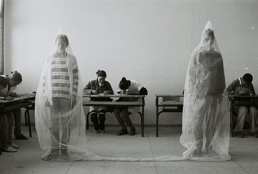 Untitled, From The Series LA SALLE DE CLASSE, 1994-2000 © Hicham Benohoud, Courtesy: Katharina Maria Raab – Berlin, Germany