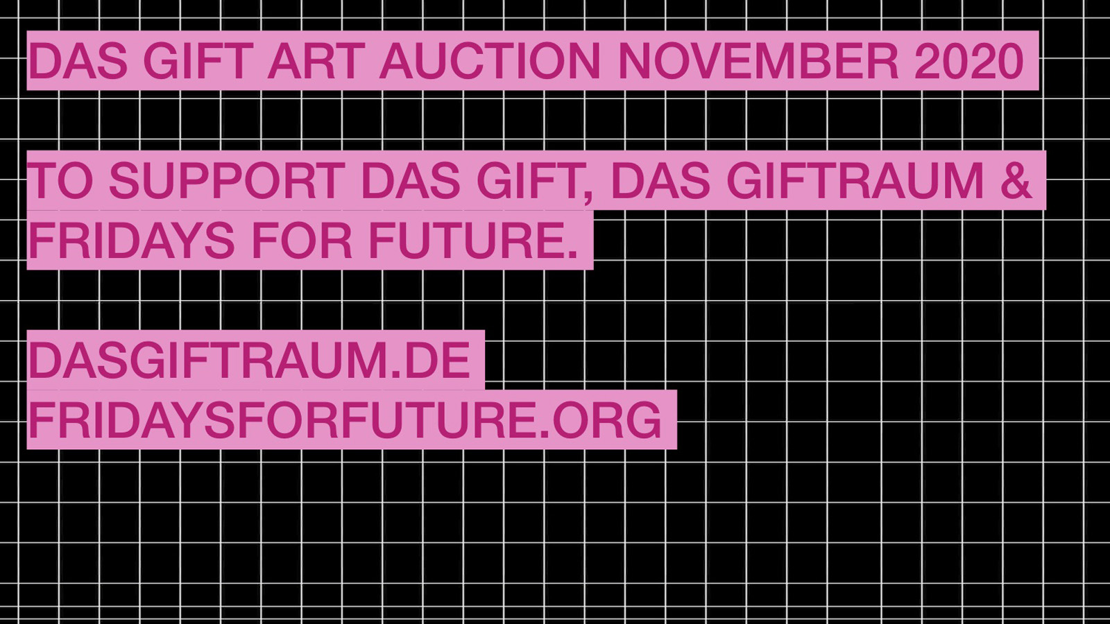 Das Giftraum | »Fridays For Future Kunstauktion«